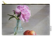 Peony Blue Bottle And Nectarine Carry-all Pouch