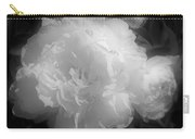 Peony Flower Phases Black And White Contrast Carry-all Pouch