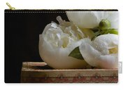 Peony Flowers On Old Hat Box Carry-all Pouch