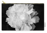 Peony In Bw Carry-all Pouch