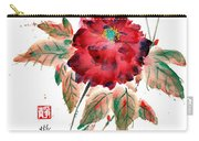 Peony's Declining Grace Carry-all Pouch