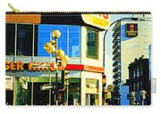 People Enjoy Beautiful Downtown Sainte Catherine Burger King Peel Scene By Hotel Comfort Suites Carry-all Pouch