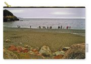 People Lined Up To Catch Capelin On The Shore Of Middle Cove-nl Carry-all Pouch