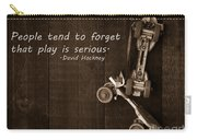 People Tend To Forget That Play Is Serious Carry-all Pouch by Edward Fielding