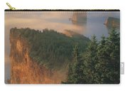 Perce Rock And The Three Sisters In Fog Carry-all Pouch