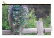 Perched Peacock Carry-all Pouch