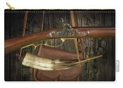 Percussion Cap And Ball Rifle With Powder Horn And Possibles Bag Carry-all Pouch