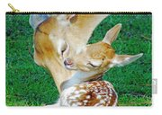 Pere David Deer And Fawn Carry-all Pouch