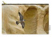 Peregrine Falcon Flying By Cliff Carry-all Pouch
