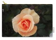 Perfect Peach Rose Carry-all Pouch