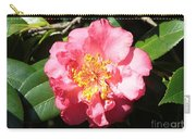 Perfect Pink Camellia Carry-all Pouch