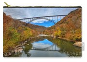 Perfect Reflections Of The New River Gorge Bridge Carry-all Pouch