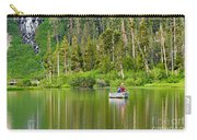 Perfect Sunday - Two People Fishing On A Lake In Mammoth California. Carry-all Pouch