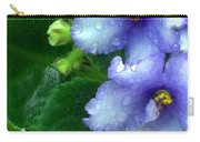 Periwinkle African Violets Carry-all Pouch