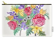 Perky Spring Flowers Carry-all Pouch