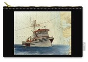 Perseverance Crab Fishing Boat Nautical Chart Art Carry-all Pouch