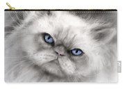 Persian Cat With Blue Eyes Carry-all Pouch