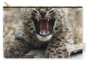 Persian Leopard Cub Snarling Carry-all Pouch