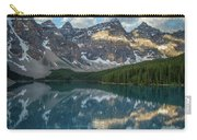 Person In Canoe On Moraine Lake, Banff Carry-all Pouch