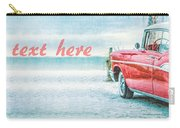 Free Personalized Custom Beach Art Carry-all Pouch