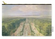 Perspective View Of The Grove From The Galerie Des Antiques At Versailles, 1688 Oil On Canvas Carry-all Pouch