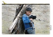 Peruvian Boy Gathers Wood Carry-all Pouch