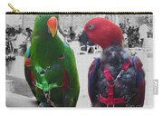 Pet Parrots In A Cafe Carry-all Pouch