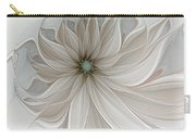 Petal Soft White Carry-all Pouch