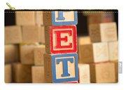 Pete - Alphabet Blocks Carry-all Pouch