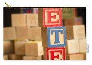 Peter - Alphabet Blocks Carry-all Pouch