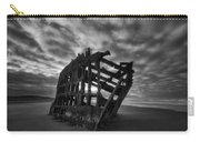 Peter Iredale Shipwreck Black And White Carry-all Pouch