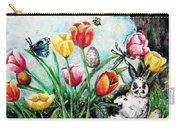 Peters Easter Garden Carry-all Pouch by Shana Rowe Jackson