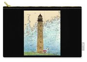 Petit Manan Island Lighthouse Me Nautical Chart Map Art Carry-all Pouch
