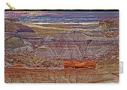 Petrified Log On Overlook Near Blue Mesa In Petrified Forest National Park-arizona   Carry-all Pouch