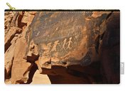 Petroglyphs Carry-all Pouch by Valeria Donaldson