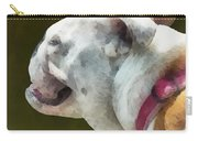 Pets - English Bulldog Profile Carry-all Pouch