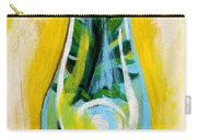 Petunia In Vase With Yellow Background Carry-all Pouch by Genevieve Esson