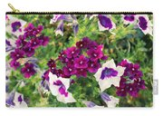 Petunias And Verbena IIi Carry-all Pouch