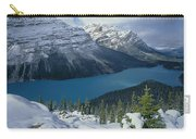 1m3639-peyto Lake After Snowfall,canadian Rockies Carry-all Pouch