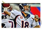 Peyton Manning Throwing The Pass Carry-all Pouch