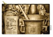 Pharmacy - Snake Oil -  Black And White Carry-all Pouch