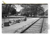 Phelps Ny Train Station In Black And White Carry-all Pouch