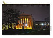 Philadelphia Art Museum  At Night From The Rear Carry-all Pouch by Bill Cannon