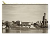 Philadelphia Art Museum With Cityscape In Sepia Carry-all Pouch