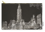 Philadelphia City Hall Mono Carry-all Pouch