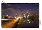Philadelphia Cityscape From South Street At Night Carry-all Pouch