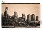 Philadelphia Cityscape In Sepia Carry-all Pouch