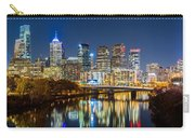 Philadelphia Cityscape Panorama By Night Carry-all Pouch