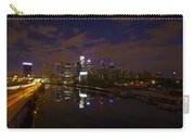 Philadelphia From South Street At Night Carry-all Pouch by Bill Cannon