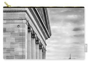 Philadelphia Museum Of Art Facade Bw Carry-all Pouch